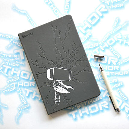 Personalised Thor's Hammer Notebook: