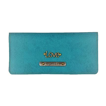 Personalised Turquoise Womens Wallet: Handbags and Wallets
