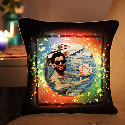 Personalised Vibrant LED Cushion: Send Personalised Gifts to Bhopal