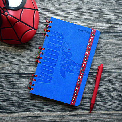 Personalised Webbed Wonder Wiro-Notebook: Gifts to India