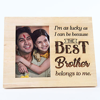 Personalised Wooden Frame- My Best Brother: Personalised Engraved