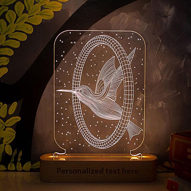 Personalised Yellow LED Bird Lamp: Personalised Lamps