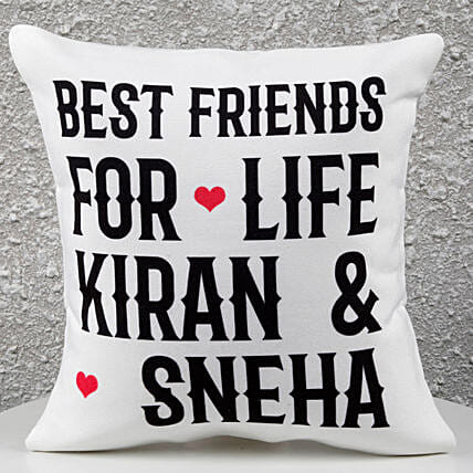 Personalized Best Friends Cushion: Girlfriends Day Gifts