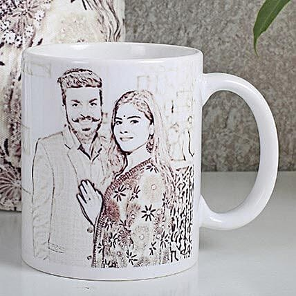 Personalized Couple Sketch Mug: Send Caricatures