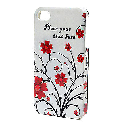 Personalized Floral iPhone Case: