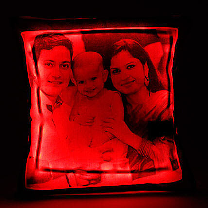 Personalized LED Cushion Red: Gifts for New Born