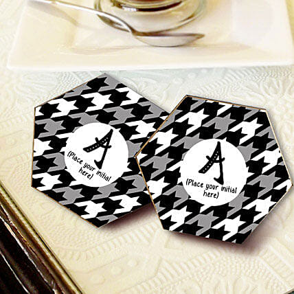 Personalized Letter Coasters: Send Gifts to Siwan