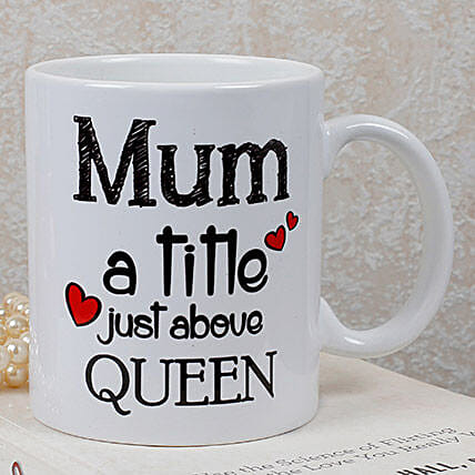 Personalized Queen Mom Mug: Coffee Mugs