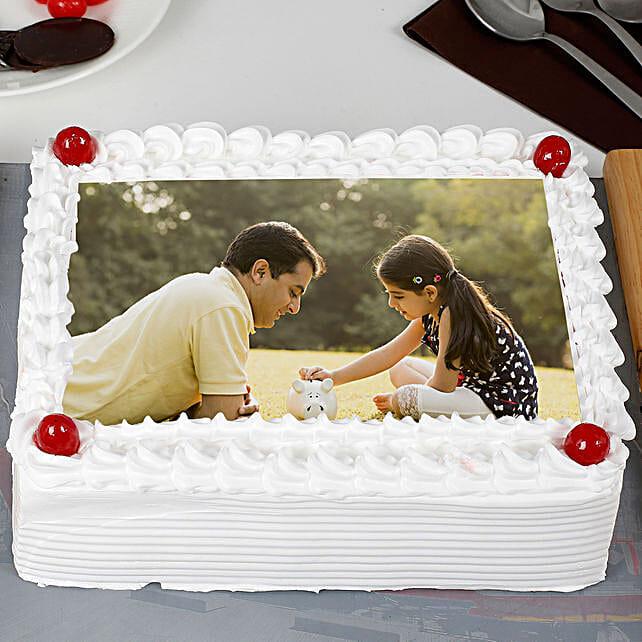 Pineapple Cream Photo Cake for Dad: Photo Cakes