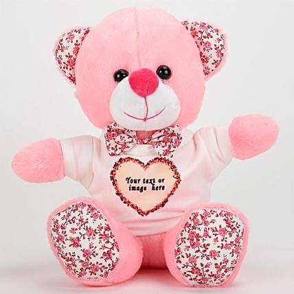 Pink Personalized Teddy Bear: Toys and Games