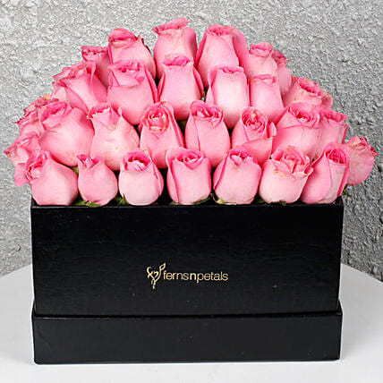 Pink Roses Box of Happiness: Premium Roses