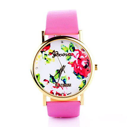 Pink & White Floral Watch: Buy Watches