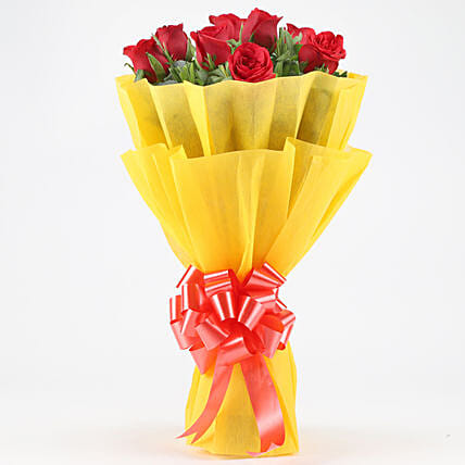 Posy Of Bright Red Roses: