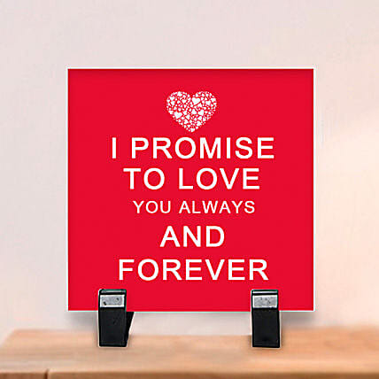 Promise to Love: Table tops