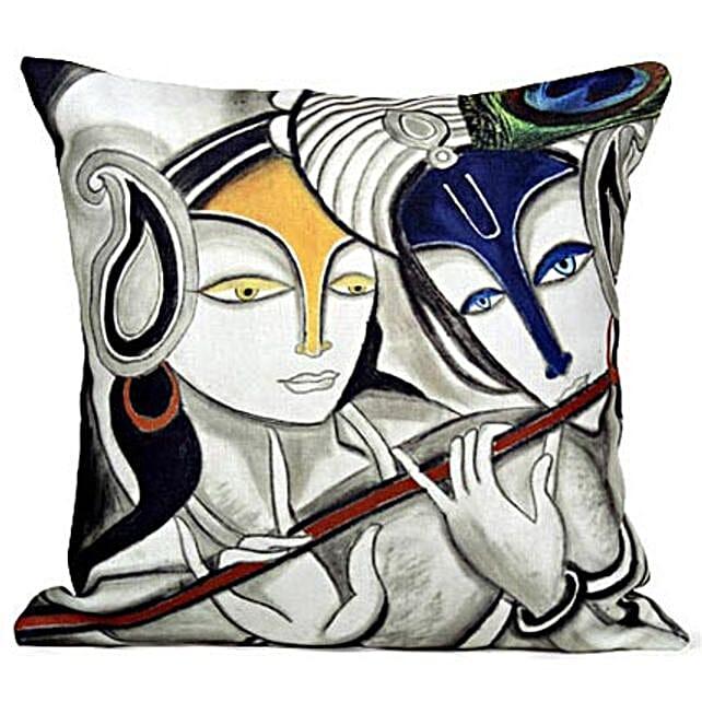 Radha Krishan Cushion: Janmashtami Gifts