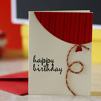 Red Balloon Birthday Greeting Card: Buy Greeting Cards