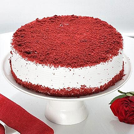 Red Velvet Fresh Cream Cake: Buy Eggless Cakes
