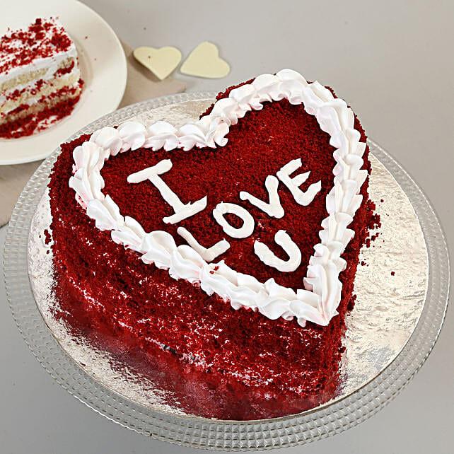 Red Velvet Love Cake: Red Velvet Cakes Delivery