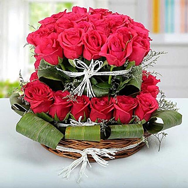 Rose Basket Arrangement: Premium & Exclusive Gift Collection