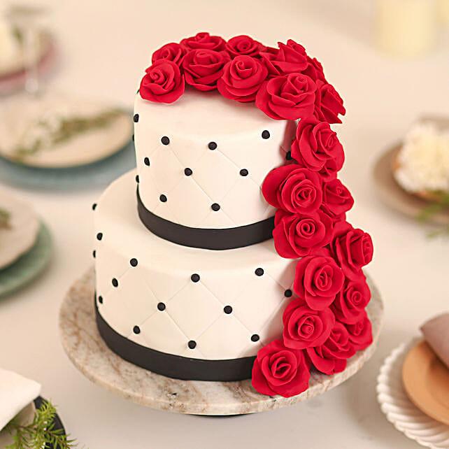 Rose Fondant Cake: Send Designer Cakes