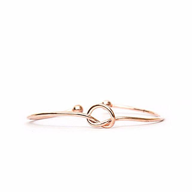 Rose Gold Knot Bracelet: Send Jewellery Gifts