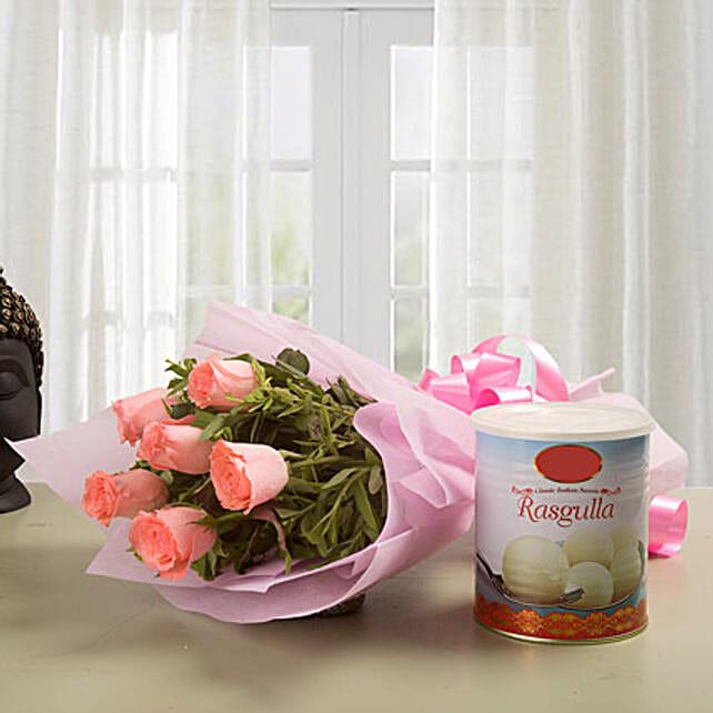 Roses N Rasgulla: Flower N Sweets