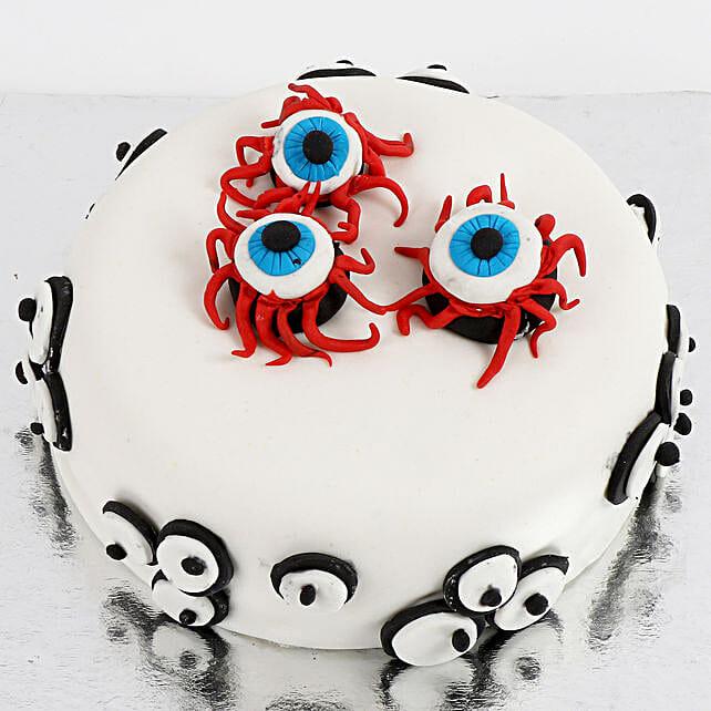 Scary Eyeballs Cake: