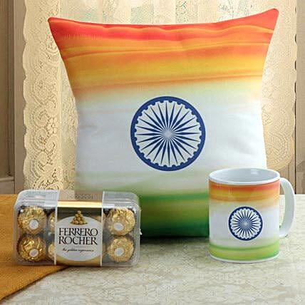 Sense Of Patriotism Combo: Independence Day Gifts