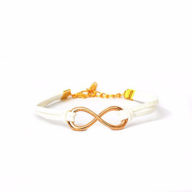 Serene White Infinity Bracelet: Friendship day Bracelets