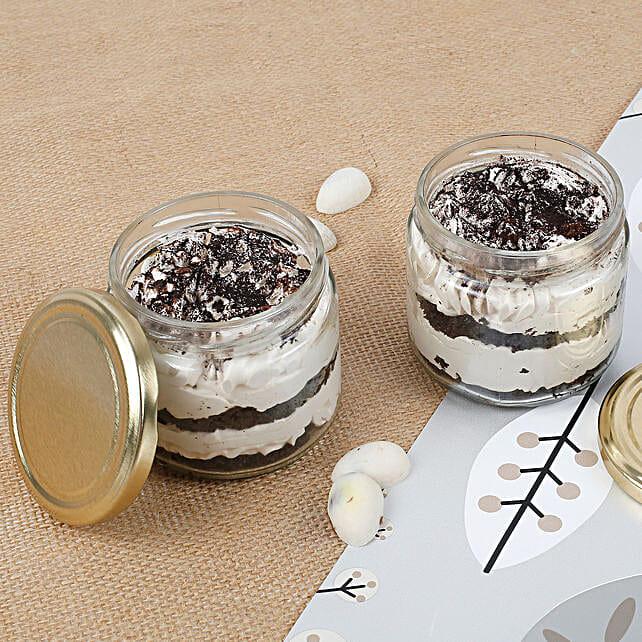 Set of 2 Trendy Tiramisu Jar Cake: Cake in a Jar