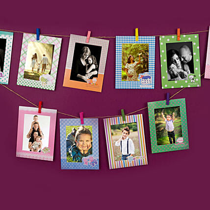 Set Of Colourful Photo Frames: Personalised Photo Frames