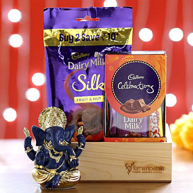 Silk Fruit & Milk Multi Pack With Ganesha Idol: Gift Baskets