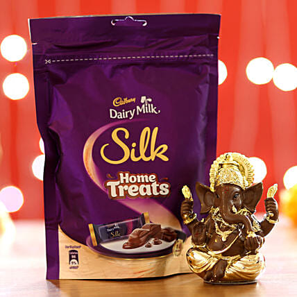 Silk Home Treats & Lord Ganesha Idol: Cadbury Chocolates