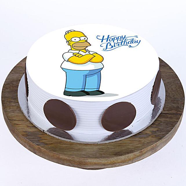 Simpsons Photo Cake: Cartoon Cakes