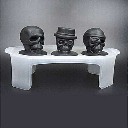 Skull Ice Mould Set Of 3: Halloween Gifts