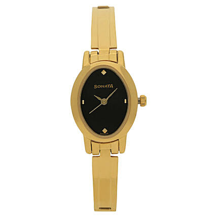 Sonata Analog Black Womens Watch: Watches