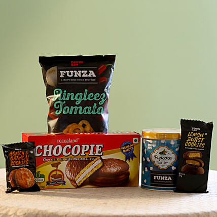 Special Coffee Day Snacks Gift Pack: Send Gift Hampers