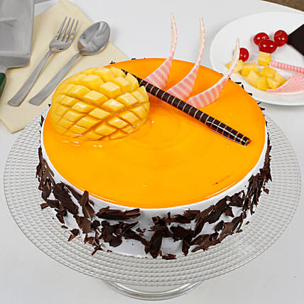 Special Mango Fruit Cream Cake: Eggless Cakes