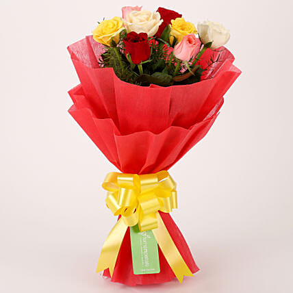f05aae0469df2 Special Mixed Roses Bouquet  Send Valentine Gifts for Him