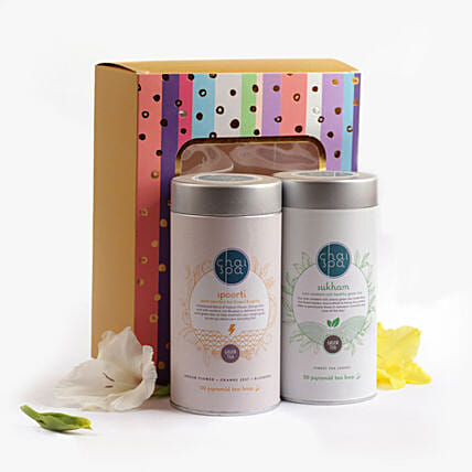 Spoorti & Sukham Green Tea Paradise Combo: Fathers Day Gift Hampers