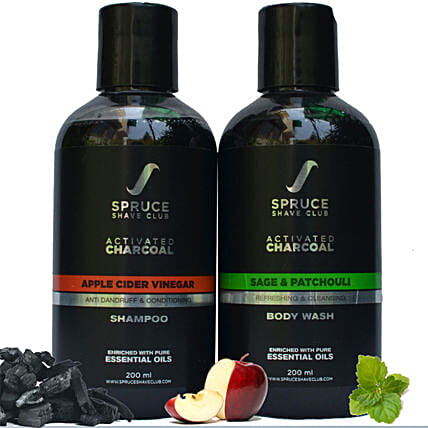 Spruce Shave Club Charcoal Bathing Essentials: Cosmetics & Spa Hampers