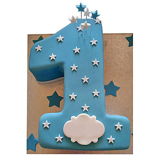 Starry Gaze Cake: 1st Birthday Cakes