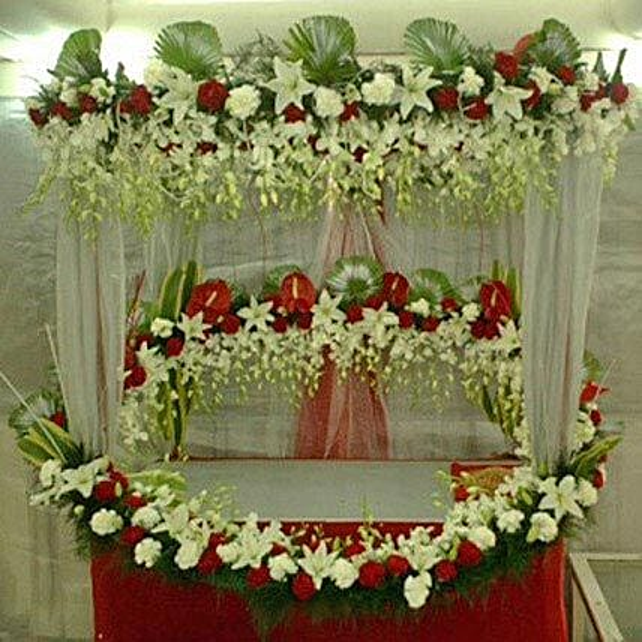 Superb Floral Ganapati Decoration: Carnations
