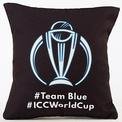 Team Blue ICC World Cup Cushion: Cricket World Cup Gifts
