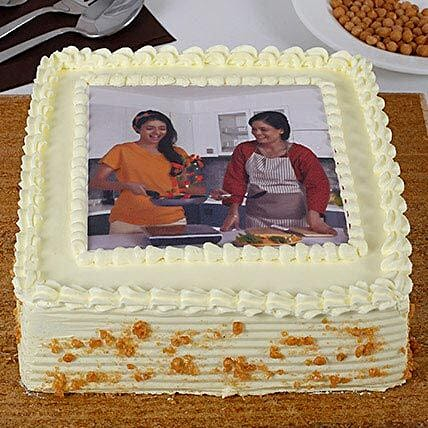 Tempting Butterscotch Photo Cake: Send Photo Cakes