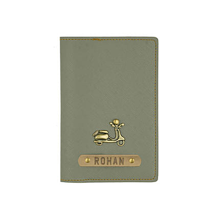 Textured Passport Cover Ash Grey: