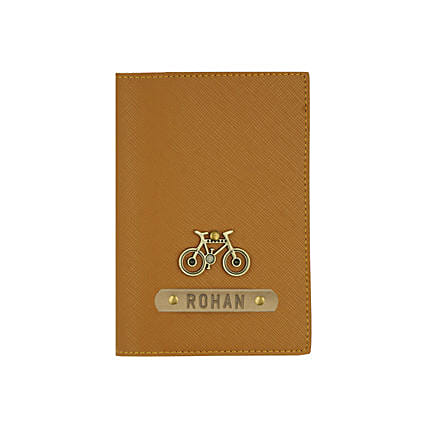 Textured Passport Cover Brown: Personalised Accessories