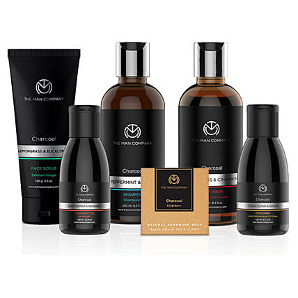 The Man Company Charcoal Gang: Cosmetics & Spa Hampers