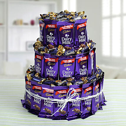 Dairy Milk Chocolate & Eclairs Arrangement: