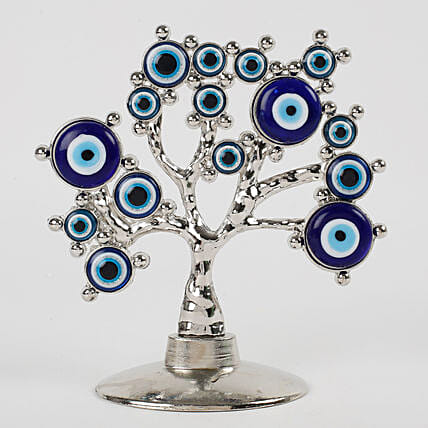 Tree Shaped Evil Eye Showpiece: Home Decor